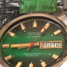 Relojes automáticos: RELOJ THERMIDOR AUTOMATICO ESFERA VERDE SEÑALES EN RELIEVE MÁQUINA 2789-1. Lote 297061723