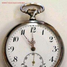 Relojes de bolsillo: RELOJ DE BOLSILLO DE PLATA . Lote 12286422