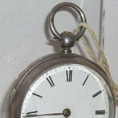 Relojes de bolsillo: RELOJ BOLSILLO DE PLATA Y LLAVE C1880. Lote 12313474