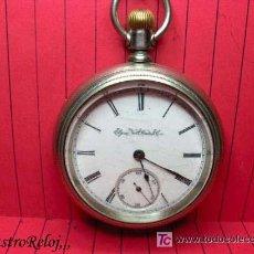 Relojes de bolsillo: ,,,ELGIN - NATL WATCH Cº,,,RELOJ DE BOLSILLO ACERO,,,, GRAN TAMAÑO . ( B - 179 ) .. Lote 23468195