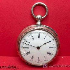 Relojes de bolsillo: ,,, RELOJ DE BOLSILLO DE LLAVE,,,PLATA DOS TAPAS . ( B - 315 ) .. Lote 24314286