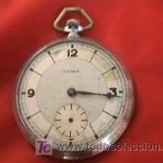 Relojes de bolsillo: TENOX RELOJ BOLSILLO ART DECÓ 50MM. Lote 10302282
