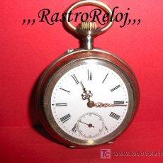 Relojes de bolsillo: ,,,RELOJ DE BOLSILLO,,,PLATA 800 DOS TAPAS . ( B - 62 ).. Lote 23606697
