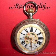 Relojes de bolsillo: ,,,TIROLÉS,,,PLATA DOS TAPAS,,,MÁQUINA LABRADA . ( B - 343 ).. Lote 25894132