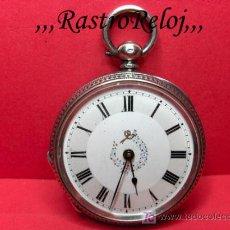 Relojes de bolsillo: ,,,LLAVERO,,,RELOJ DE BOLSILLO,,,PLATA 935 DOS TAPAS . ( B - 352 ).. Lote 23943948