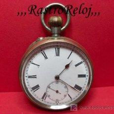 Relojes de bolsillo: ,,,RELOJ DE BOLSILLO,,,ALPACA DOS TAPAS,,,MÁQUINA SUIZA FUNCIONANDO . ( B - 358 ).. Lote 23710881