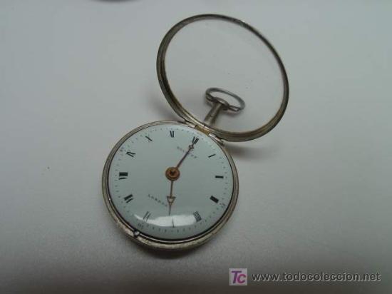 RELOJ INGLES DE DOBLE CAJA ELLICOT (Relojes - Bolsillo Carga Manual)