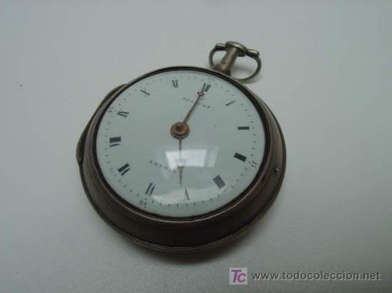 Relojes de bolsillo: RELOJ INGLES DE DOBLE CAJA ELLICOT - Foto 3 - 27196971