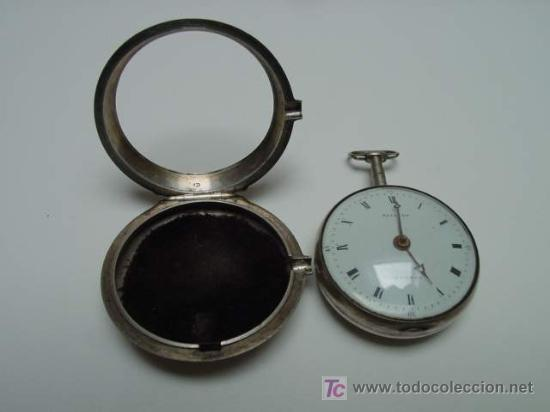 Relojes de bolsillo: RELOJ INGLES DE DOBLE CAJA ELLICOT - Foto 4 - 27196971