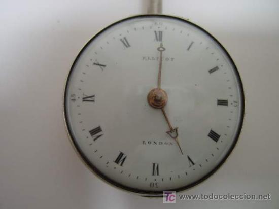 Relojes de bolsillo: RELOJ INGLES DE DOBLE CAJA ELLICOT - Foto 5 - 27196971