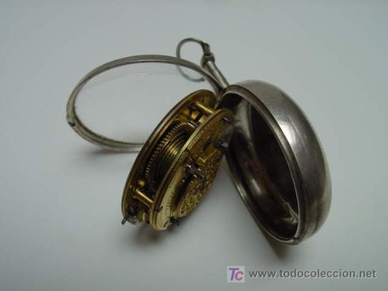 Relojes de bolsillo: RELOJ INGLES DE DOBLE CAJA ELLICOT - Foto 7 - 27196971