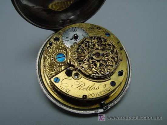 Relojes de bolsillo: RELOJ INGLES DE DOBLE CAJA ELLICOT - Foto 8 - 27196971