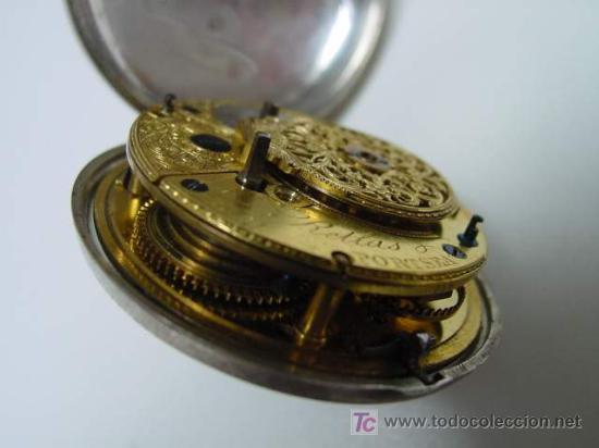 Relojes de bolsillo: RELOJ INGLES DE DOBLE CAJA ELLICOT - Foto 9 - 27196971