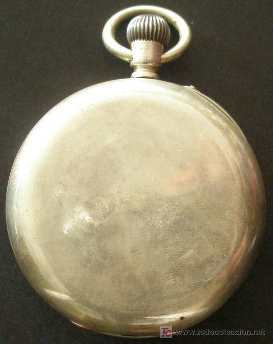 Relojes de bolsillo: ANTIGUO RELOJ BOLSILLO PLATA - FUNCIONANDO - Foto 2 - 17827968