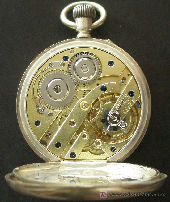 Relojes de bolsillo: ANTIGUO RELOJ BOLSILLO PLATA - FUNCIONANDO - Foto 5 - 17827968