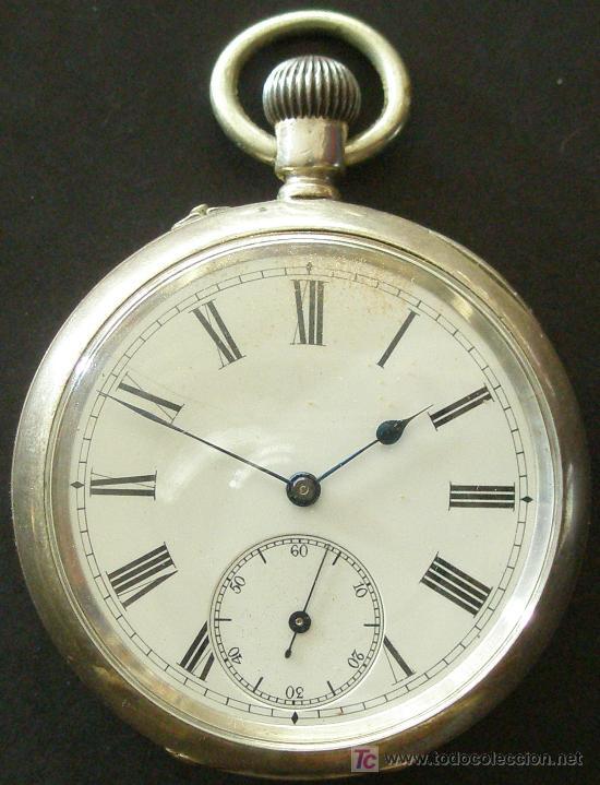Relojes de bolsillo: ANTIGUO RELOJ BOLSILLO PLATA - FUNCIONANDO - Foto 6 - 17827968