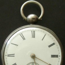 Relojes de bolsillo: ANTIGUO RELOJ BOLSILLO PLATA - CUERDA LLAVE - VER MAS FOTOS. Lote 18006438