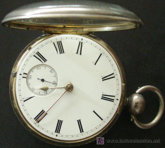 Relojes de bolsillo: ANTIGUO RELOJ BOLSILLO PLATA - CUERDA LLAVE - VER MAS FOTOS - Foto 3 - 18006438