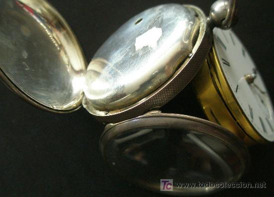 Relojes de bolsillo: ANTIGUO RELOJ BOLSILLO PLATA - CUERDA LLAVE - VER MAS FOTOS - Foto 5 - 18006438