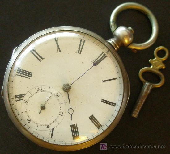 d90c78aeeadb 3 fotos ANTIGUO RELOJ BOLSILLO PLATA - CUERDA LLAVE - VER FOTOS (Relojes -  Bolsillo Carga Manual ...