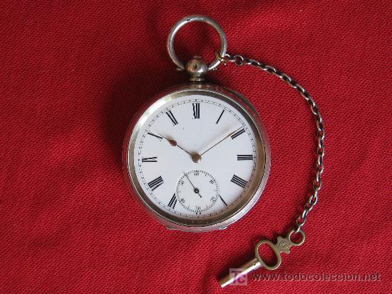 Reloj antiguo phenix caja de plata cadena y ll comprar - Reloj de cadena ...