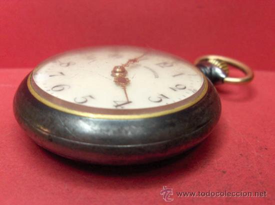 Relojes de bolsillo: ,,,PAUL HEMMELER,,,RELOJ BOLSILLO,,,PAVONADO,,,FUNIONANDO Y EN HORA. ( B - 4 ). - Foto 3 - 52477852