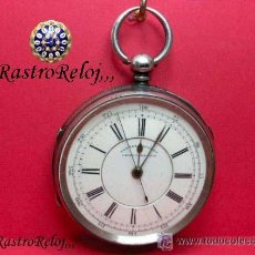 Relojes de bolsillo: ,,,RICHARDSON,,,CRONÓMETRO MEDICO,,,TRANSMISION DE CUERDA POR CADENA,,,PLATA SELLADA .( B -33 ).. Lote 25958480