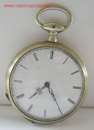 RELOJ BOLSILLO PLATA DE LLAVE (Relojes - Bolsillo Carga Manual)