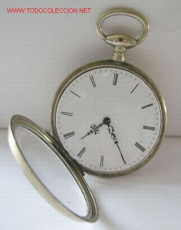Relojes de bolsillo: RELOJ BOLSILLO PLATA DE LLAVE - Foto 2 - 12286445