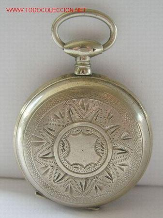 Relojes de bolsillo: RELOJ BOLSILLO PLATA DE LLAVE - Foto 3 - 12286445