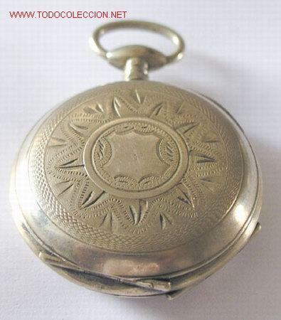 Relojes de bolsillo: RELOJ BOLSILLO PLATA DE LLAVE - Foto 4 - 12286445