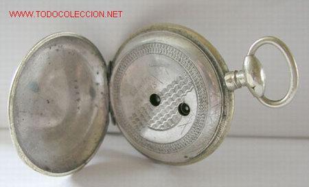 Relojes de bolsillo: RELOJ BOLSILLO PLATA DE LLAVE - Foto 5 - 12286445