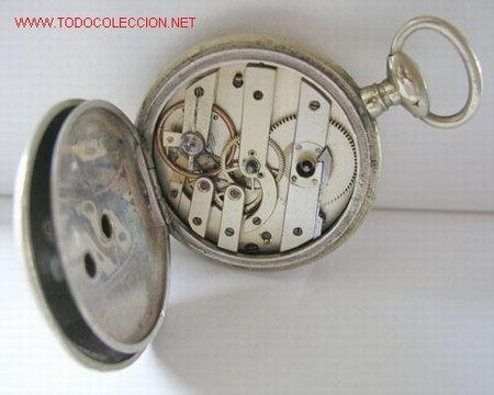 Relojes de bolsillo: RELOJ BOLSILLO PLATA DE LLAVE - Foto 6 - 12286445