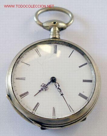 Relojes de bolsillo: RELOJ BOLSILLO PLATA DE LLAVE - Foto 7 - 12286445