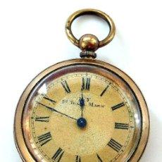 Relojes de bolsillo: RELOJ DE LLAVE FEMENINO - MARCA IVY - TAPA LABRADA. Lote 26400166