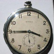 Relojes de bolsillo: CYMA PATENTED 20319 --FUNCIONANDO--. Lote 26760054