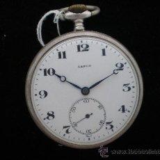 Relojes de bolsillo: BOLSILLO PLATA LANCON AÑOS 40.. Lote 26624022