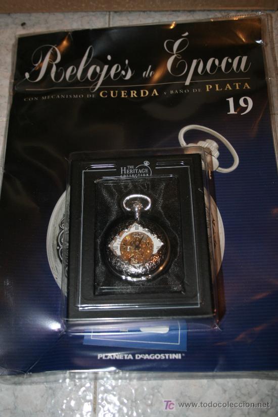 Relojes de bolsillo: Reloj de cuerda con baño de plata. Colección Relojes de Epoca. nº 19 - Foto 2 - 26952789