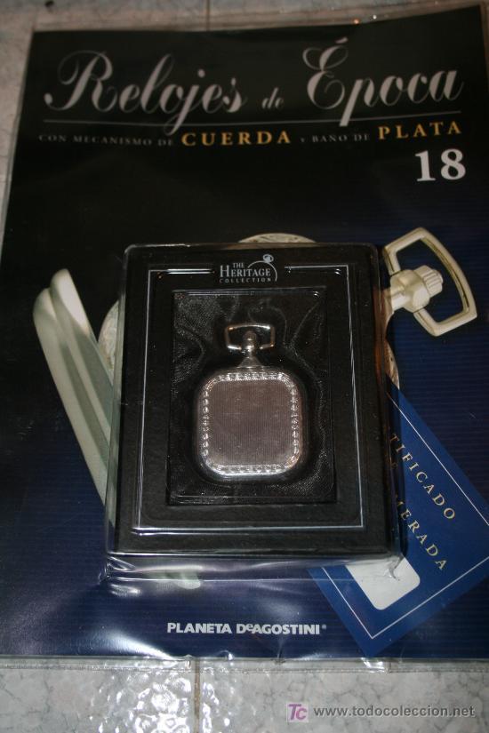 Relojes de bolsillo: Reloj de cuerda con baño de plata. Colección Relojes de Epoca. nº 18 - Foto 2 - 27266092