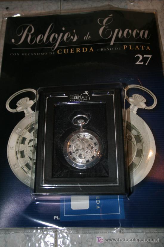 Relojes de bolsillo: Reloj de cuerda con baño de plata. Colección Relojes de Epoca. nº 27 - Foto 2 - 26952791
