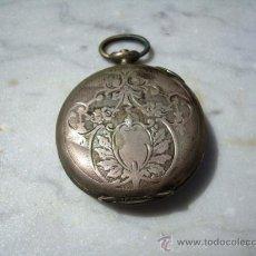 Relojes de bolsillo: ANTIGUO RELOJ DE BOLSILLO DE PLATA PARA PIEZAS. Lote 27536599
