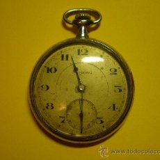 Relojes de bolsillo: RELOJ DE BOLSILLO SERGINES.MUY ANTIGUO Y RARO.FUNCIONANDO PERFECTAMENTE. Lote 22378364