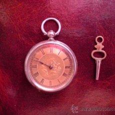 Relojes de bolsillo: PRECIOSO RELOJ 3 TAPAS.............ESFERA DORADA..............SIGLO 19..........FUNCIONANDO. Lote 20308482