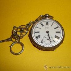 Relojes de bolsillo: RELOJ DE BOLSILLO, MURET GENEVE,CON SU LLAVE Y SU CADENA.MUY ANTIGUO. Lote 25613390