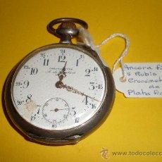 Relojes de bolsillo: RELOJ DE BOLSILLO CRONOMETRE A. DE LAMBERT,LIÉGE. Lote 21358029