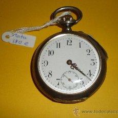 Relojes de bolsillo: RELOJ DE BOLSILLO DE PLATA CYLINDRE 10 RUBÍES. Lote 21358537