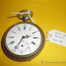 Relojes de bolsillo: RELOJ DE BOLSILLO MUY ANTIGUO. Lote 23683243