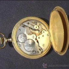 Relojes de bolsillo: RELOJ BOLSILLO CANIGO EN MARCHA DOS TAPAS 50MM. Lote 27509255