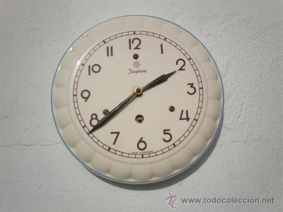 RELOJ DE COCINA PORCELANA JUNGHAS ALEMAN (Relojes - Bolsillo Carga Manual)