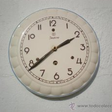 Relojes de bolsillo: RELOJ DE COCINA PORCELANA JUNGHAS ALEMAN. Lote 23346444